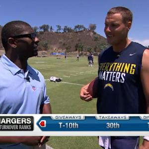 LaDainian Tomlinson and Philip Rivers chat new San Diego Chargers offense
