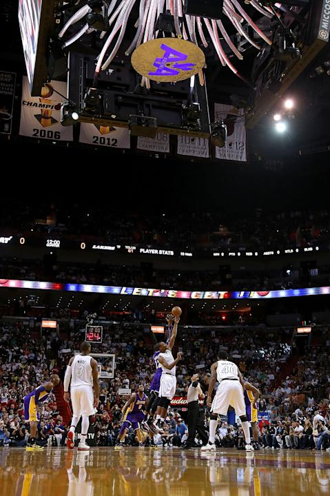 Los Angeles Lakers v Miami Heat