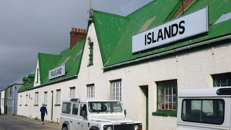 In this photo taken on Sunday, March 4, 2012, the headquarters of the Falkland Islands Company, which controlled most land in the islands before the 1982 war and remains the largest private employer, are seen in Stanley, Falkland Islands. Falkland Islanders are still bristling over the invasion by Argentina 30 years ago, but they're not complaining about its aftermath. The April 2, 1982 invasion led by Argentina's dictators and the subsequent war with Britain launched a process that transformed the islands from a sleepy backwater of sheep farms into a prosperous outpost whose residents enjoy one of the highest per capita incomes in the Western Hemisphere. (AP Photo/Michael Warren)