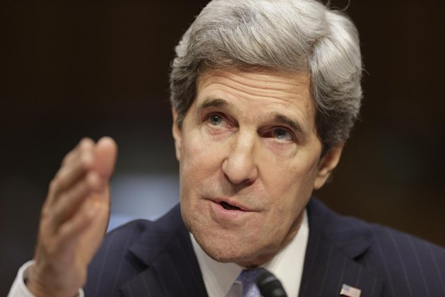 Senate Foreign Relations Chairman Sen. John Kerry, D-Mass., sits before the committee he has served on for 28 years and led for the past four as he seeks confirmation as U.S. secretary of state, Thursday, Jan. 24, 2013, on Capitol Hill in Washington. Kerry, who is likely to face friendly questioning on a smooth path to approval, is President Barack Obama's choice to succeed Secretary of State Hillary Rodham Clinton who is stepping down after four years as America's top diplomat. (AP Photo/J. Scott Applewhite)
