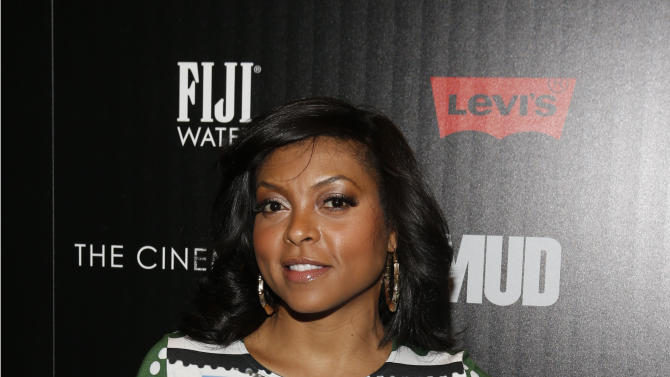 """Actress Taraji P. Henson arrives for The Cinema Society's screening of """"Mud"""" presented by FIJI Water, Sunday, April 21, 2013, in New York. (Photo by Jason DeCrow/Invision for FIJI Water/AP Images)"""