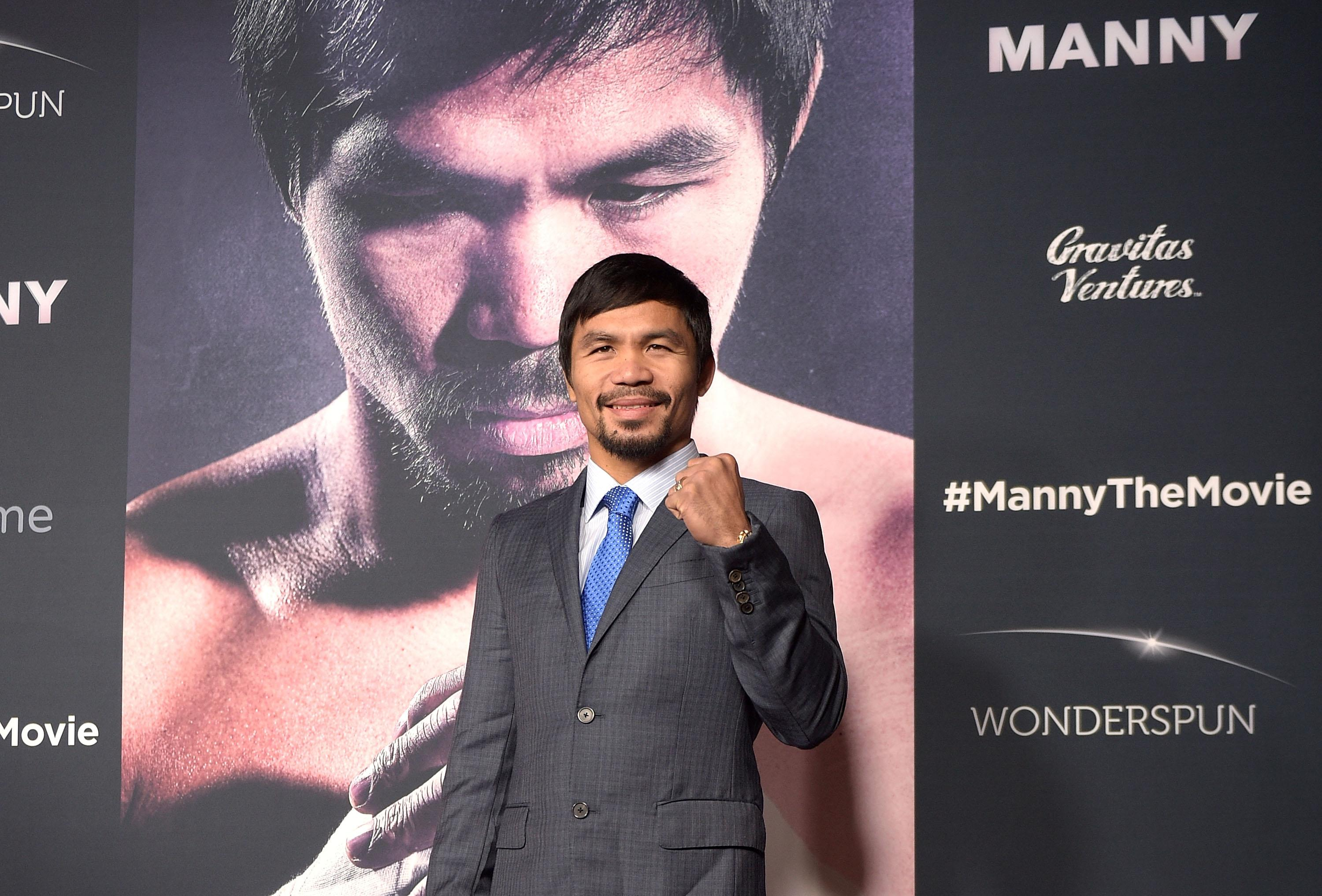 Boxers Pacquiao, Mayweather meet at NBA game