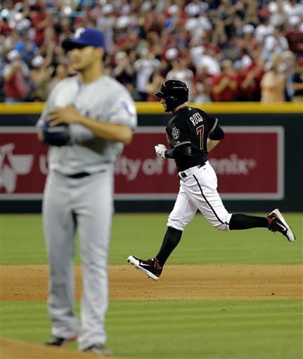 Skaggs strikes out 9; D-backs beat Texas