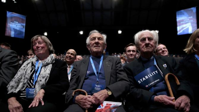 Delegates attend the start of the Conservative Party Conference in Manchester, Britain