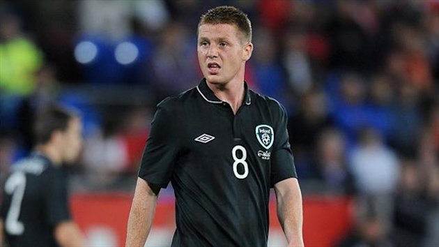 James McCarthy has joined up with the Ireland squad after completing his move to Everton
