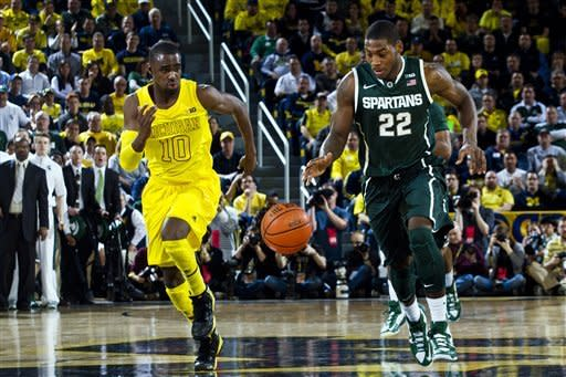 Burke's defensive plays help Michigan beat MSU