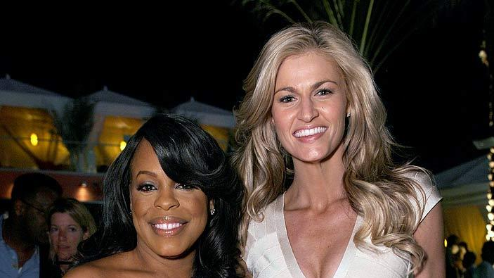 Niecy Nash and ESPN host Erin Andrews attend the grand opening of Drai's Hollywood on March 17, 2010 in Hollywood, California.