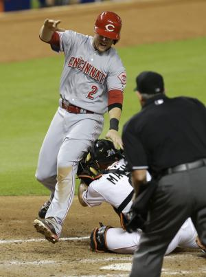 Baseball: Reds-Marlins call right, took too long