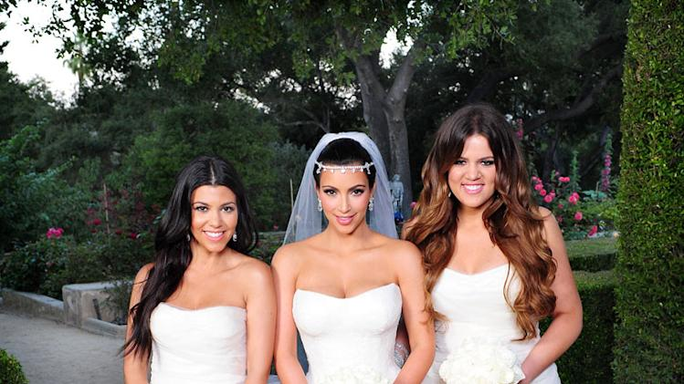 "Kourtney, Kim, and Khloe Kardashian as seen on ""Kim's Fairytale Wedding."""