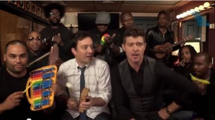 """Blurred Lines"" with The Roots and Robin Thicke"