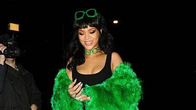 Rihanna's Green Lantern Boots Took Her from Stage to Dinner