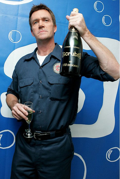 Neil Flynn celebrates Scrubs 100th Episode.