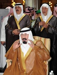 Saudi Arabia&#39;s King Abdullah prays during the funeral of Crown Prince Nayef in the Grand Mosque in the holy city of Mecca on June 17. Disputes within the Al-Saud dynasty mostly remain out of the public eye, and consensus within the family appears to be holding strong amid the turmoil currently sweeping the Arab world