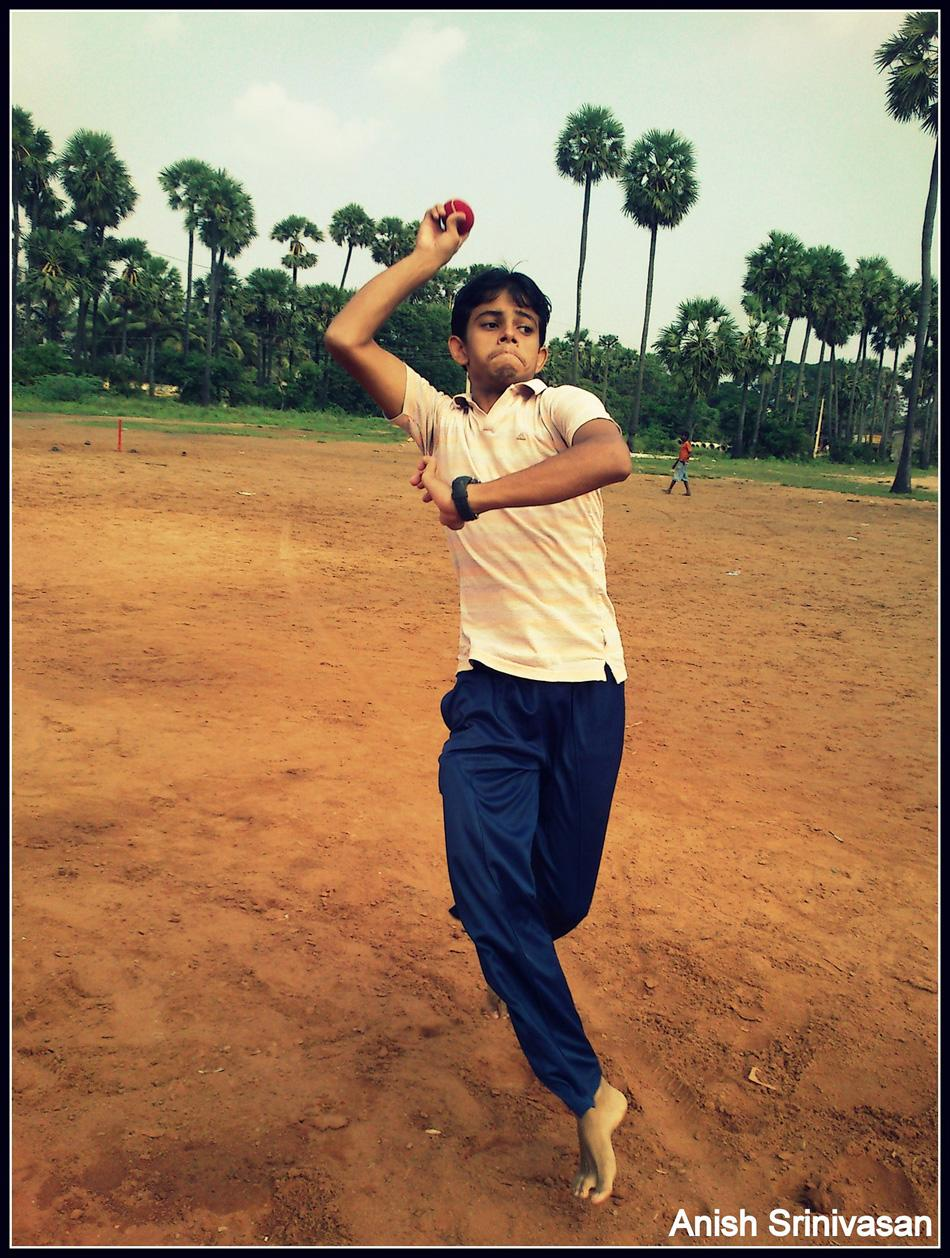 Gully cricket,  by Anish Srinivasan [SCPC5]