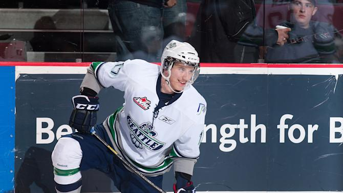 Shea Theodore #17 of the Seattle Thunderbirds