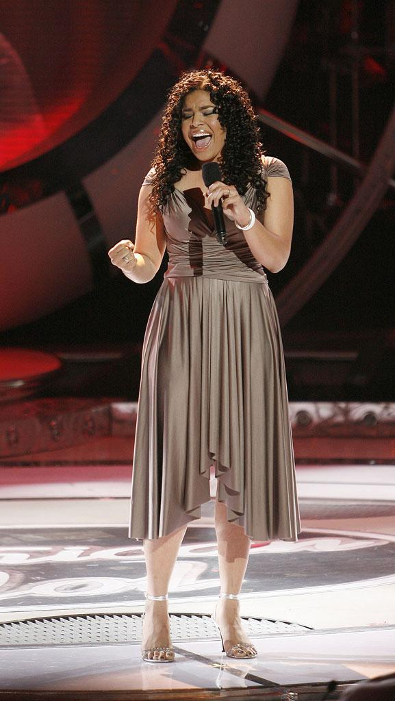 Jordin Sparks performs as one of the top 6 contestants on the 6th season of American Idol.