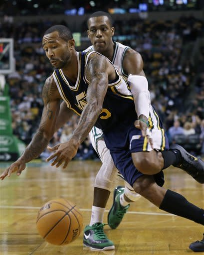 Pierce scores 23 to lead Celtics past Jazz, 98-93