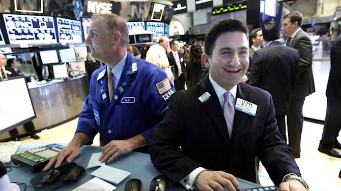 US stocks edge up following Dow's record day