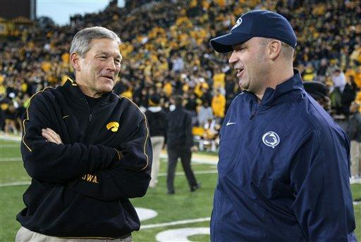 Penn State pounds Iowa 38-14 for 5th straight win