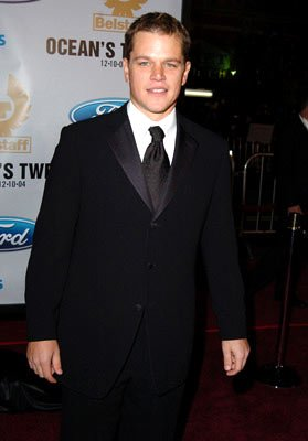 Premiere: Matt Damon at the Hollywood premiere of Warner Bros. Ocean's Twelve - 12/8/2004 