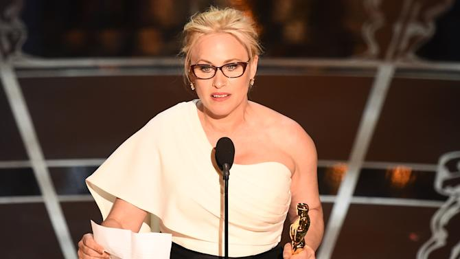 Patricia Arquette accepting the 2015 Oscar for Best Supporting Actress