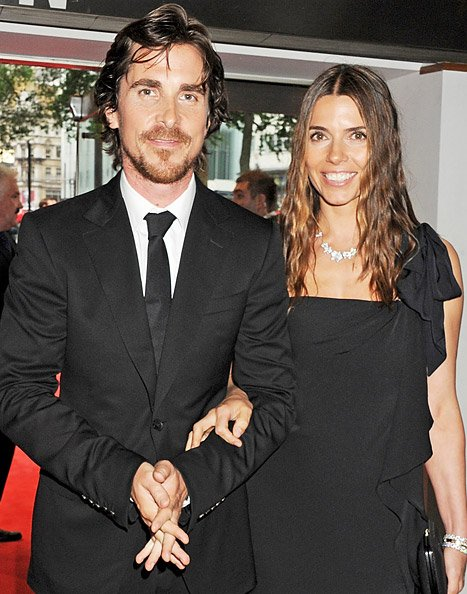 Dark Knight Rises' Christian Bale Brightens Up Around His Wife Sibi Blazic