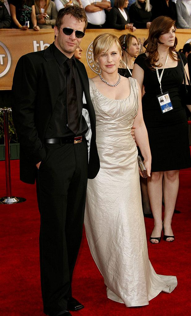 Thomas Jane and Patricia Arquette at the 13th Annual Screen Actors Guild Awards.