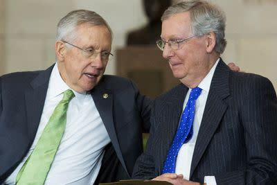 Harry Reid and Mitch McConnell just set the stage for Boehner's inevitable cave on DHS