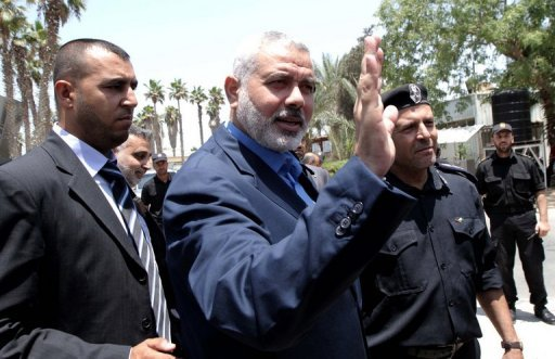 Hamas's leader in the Gaza Strip, Ismail Haniya