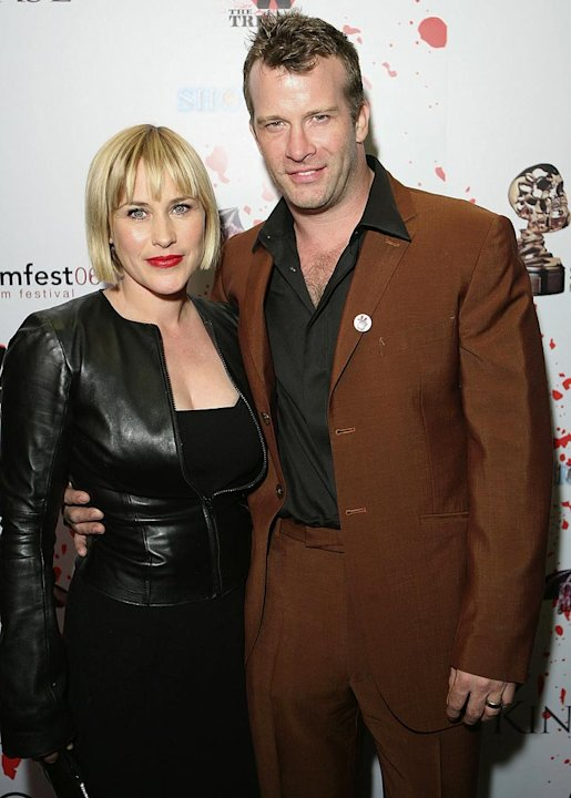 Patricia Arquette and Thomas Jane attend the after party for the world premiere of 'The Tripper' at Screamfest '06 at the Roosevelt Bar on October 13, 2006 in Hollywood, California.