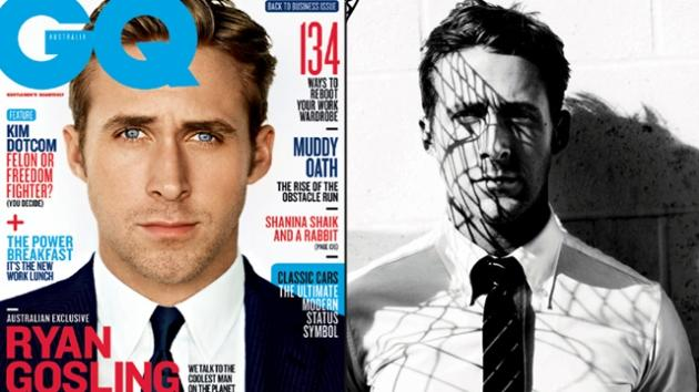 Ryan Gosling on the cover of GQ Australia (Feb/March 2013) -- GQ Australia