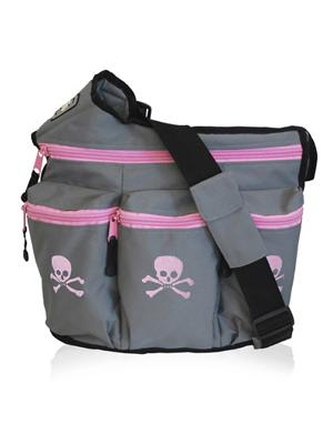 Grey/Pink Skulls by Diaper Dude