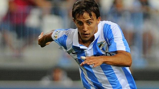 Malaga&#39;s Argentinian midfielder Diego Buonanotte