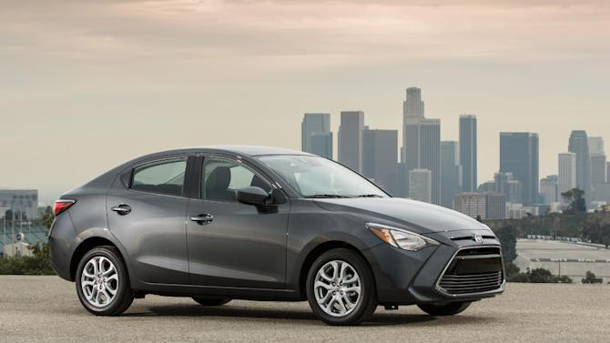 This undated photo provided by Scion shows the Scion iA, in Los Angeles. Toyota is turning to a sporty hatchback and a low-cost sedan to restore some hipness and sales to its youth-oriented Scion brand. (AP Photo/Scion)