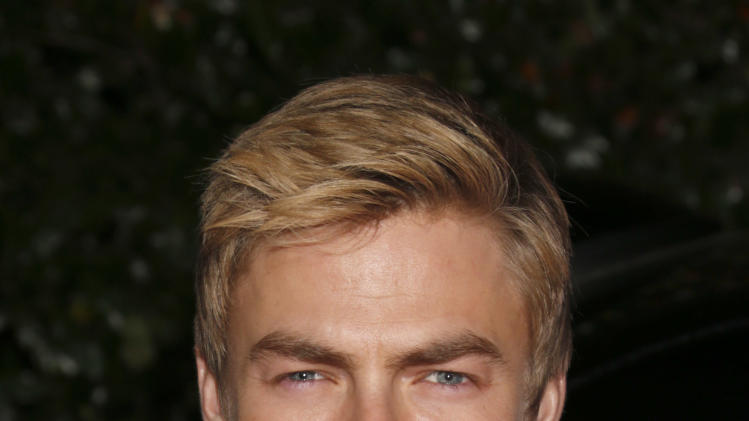 Derek Hough attends the Topshop Topman LA Opening Party At Cecconi's in Los Angeles, on Wednesday, Feb. 13, 2013 in Los Angeles. (Photo by Todd Williamson/Invision for/AP)