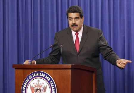 Maduro says Venezuela detains U.S. citizens; announces moves against U.S.