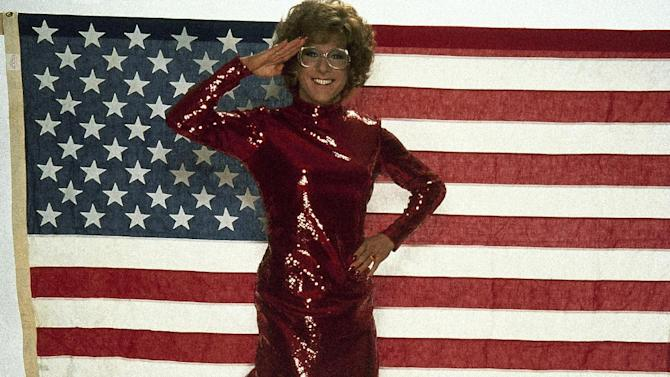 """This undated publicity photo shows actor Dustin Hoffman as Dorothy Michaels in the 1982 Columbia Pictures' film, """"Tootsie."""" (AP Photo)"""