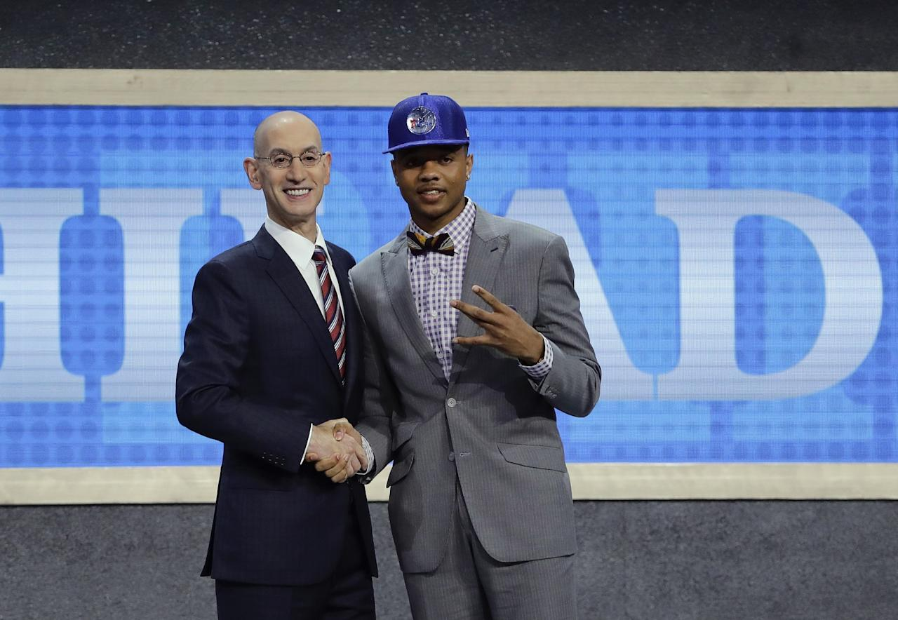 <p>The 76ers traded up to select Fultz first overall in the NBA draft. </p>
