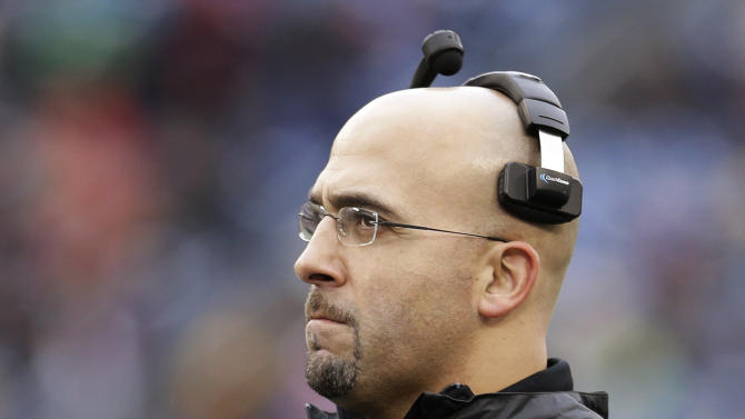 Vanderbilt head coach James Franklin watches from the sideline in the first quarter of the Music City Bowl NCAA college football game against North Carolina State, Monday, Dec. 31, 2012, in Nashville, Tenn. (AP Photo/Mark Humphrey)