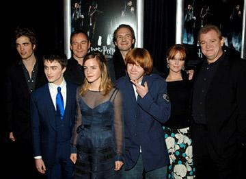 Robert Pattinson , Daniel Radcliffe , Jason Isaacs , Emma Watson , Ralph Fiennes , Rupert Grint , Miranda Richardson and Brendan Gleeson at the NY premiere of Warner Bros. Pictures' Harry Potter and the Goblet of Fire