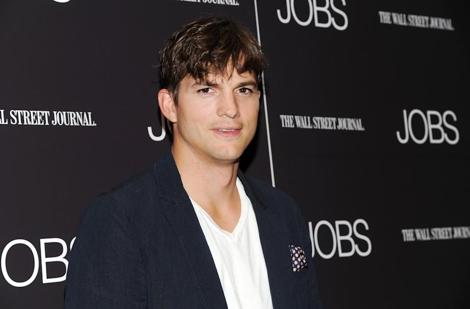 "Actor Ashton Kutcher attends a special screening of ""JOBS"" hosted by The Wall Street Journal at the Museum of Modern Art on Wednesday, Aug. 7, 2013, in New York. (Photo by Evan Agostini/Invision/AP)"