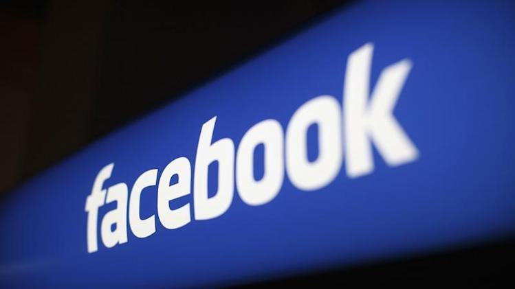 The Facebook logo is pictured at the Facebook headquarters in Menlo Park