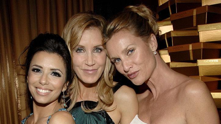 Eva Longoria, Felicity Huffman and Nicollette Sheridan at the In Style and Warner Bros. 2007 Golden Globe After Party.