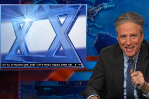 Jon Stewart Trashes CNN for Star of David Wipe: 'Are You Kidding Me? That Actually Happened' (Video)