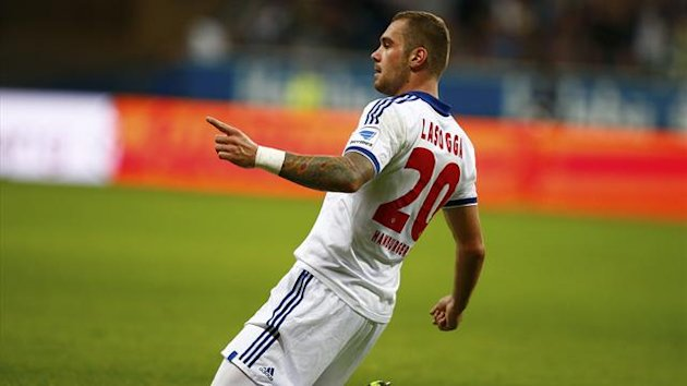 Hamburg's Pierre-Michel Lasogga celebrates (Reuters)