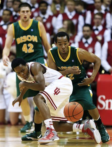 No. 1 Indiana fends off North Dakota St. 87-61