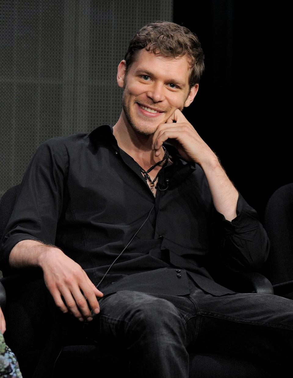 "This July 30, 2013 file photo shows actor Joseph Morgan at the ""The Originals"" panel at the CW Summer TCA in Beverly Hills, Calif. The series, a spinoff of ""Vampire Diaries,"" premieres Thursday, Oct. 3, at 9 p.m. on The CW. (Photo by Chris Pizzello/Invision/AP)"