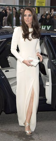 Rihanna in Adam Selman, Kate Middleton in Roland Mouret, Anja Rubic in Anthony Vaccaro: Introducing The White Slit Dress