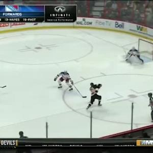 Cam Talbot Save on Mike Hoffman (00:41/1st)