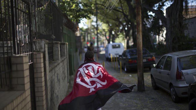 AP PHOTOS: The die-hard fan of Brazil's Flamengo